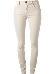 Burberry Brit Skinny Jeans Nude And Neutrals
