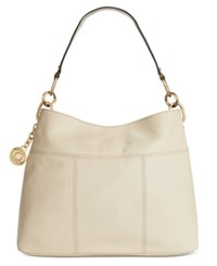 Tommy Hilfiger Th Signature Leather Small Hobo Oatmeal