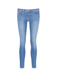 L'agence 'The Chantal' Skinny Denim Ankle Grazer Pants Blue