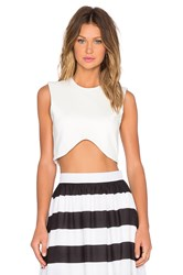 Blaque Label Crop Top White
