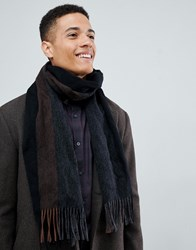 Selected Homme Wool Scarf Grey