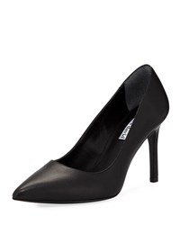 Charles David Denise Smooth Leather Pointy Toe Pump Black Leather
