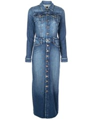 Mother Denim Shirt Dress Blue