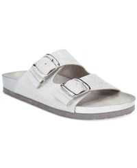White Mountain Horizon Footbed Sandals Women's Shoes Silver Glitter