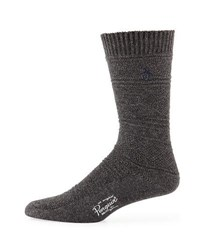 Penguin Logan Textured Knit Socks Charcoal