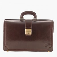 Maxwell Scott Bags Brown Lawyers Leather Briefcase