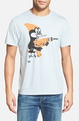 Ames Bros 'Shortcut' Graphic T Shirt Pearl Grey Orange