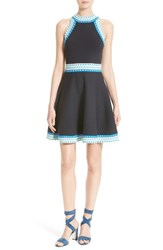 Milly Women's Fit And Flare Knit Dress
