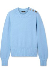 J.Crew Button Detailed Knitted Sweater Light Blue