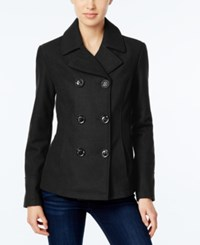 Celebrity Pink Double Breasted Peacoat Charcoal