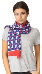 Franco Ferrari Robots Scarf Red White Blue