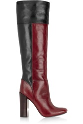 Tory Burch Alicia Two Tone Leather Boots