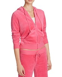 Juicy Couture Black Label Robertson Velour Zip Hoodie 100 Bloomingdale's Exclusive Dragon Fruit Pink