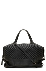 Vince Camuto Tave Quilted Leather Satchel Black Noir