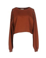 Vicolo Sweatshirts Brown