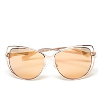 Michael Michael Kors Women's Audrina I Sunglasses Silver Rose Gold