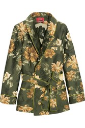 F.R.S For Restless Sleepers Jacquard Wrap Jacket Dark Green