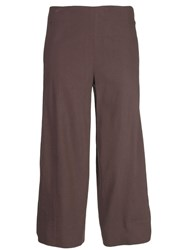 Vince Cropped Tailored Trousers Brown