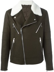 Neil Barrett Multi Pocket Biker Jacket Green