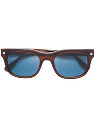 Ermenegildo Zegna Square Tinted Sunglasses Brown