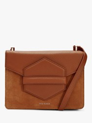 1537984e2ee88e John Lewis. Save. Ted Baker Willoww Leather Suede Cross Body Bag Mid Brown