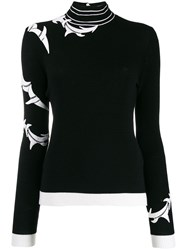 Ermanno Scervino Lace Insert Jumper Black