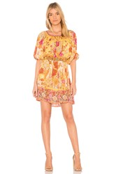 Spell And The Gypsy Collective Siren Song Smock Dress Orange