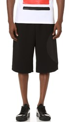 Mcq By Alexander Mcqueen Taito Crepe Shorts Darkest Black