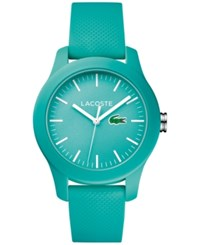 Lacoste Women's 12.12 Light Blue Rubber Strap Watch 38Mm 2000958