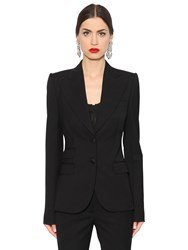 Dolce And Gabbana Stretch Wool Natte Jacket