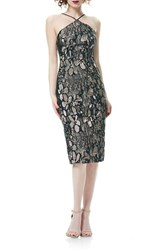 Theia Women's Jacquard Sheath Dress