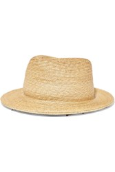 Yunotme Micha Lace Trimmed Straw Panama Hat Neutral