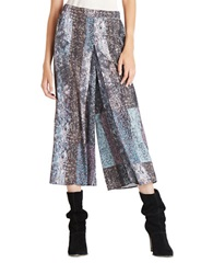 Bcbgeneration Pleated Patchwork Gaucho Pants Black Multi