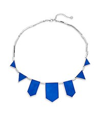 House Of Harlow Exclusive Suede Station Necklace Cobalt