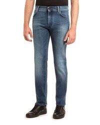 Stefano Ricci Jean With Gold Stitch And Fa Light Blue