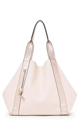 Botkier Baily Reversible Calfskin Leather Tote Pink Blossom