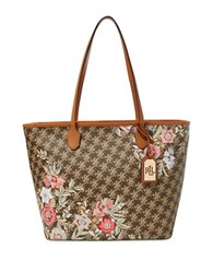 Lauren Ralph Lauren Dobson Ashley Floral Print Tote