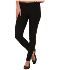 Plush Fleece Lined Cotton Legging Black Women's Clothing