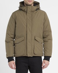 Scotch And Soda Olive Feather Bib Jacket Khaki