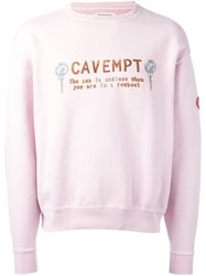 C.E. Slogan Embroidered Top Pink And Purple