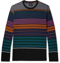 Paul Smith Striped Organic Cotton Jersey T Shirt Black
