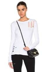 Pam And Gela Slim Crew Neck Tee In White