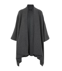 William Sharp Swarovski Crystal Cape Cardigan Female Dark Grey