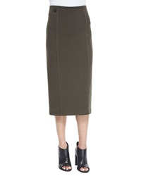 T By Alexander Wang Double Knit Ponte Skirt Peridot