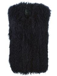 Ravn Knitted Lamb Vest Blue