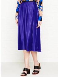 By Malene Birger Miqiau Pleated Skirt Blue