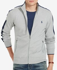 Polo Ralph Lauren Men's Interlock Full Zip Track Jacket Andver Heather Grey