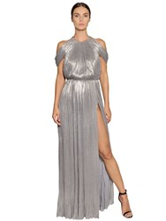 Maria Lucia Hohan Draped Lame' Viscose Jersey Gown