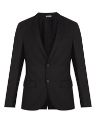 Lanvin Single Breasted Wool And Cashmere Blend Blazer Black
