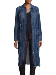 7 For All Mankind Denim Long Trucker Jacket Waterloo